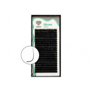 Ресницы Lovely Silicone М-изгиб (отдельные длины) 20 линий