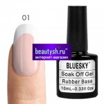 BlueSky BASE RUBBER cover pink10ml, Цвета 01-10